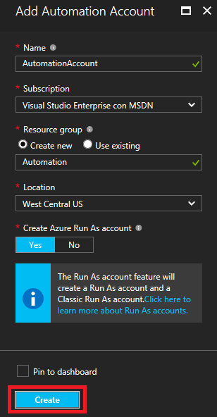 Azure Automation parameters